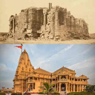 somnath_temple_before_after.jpg